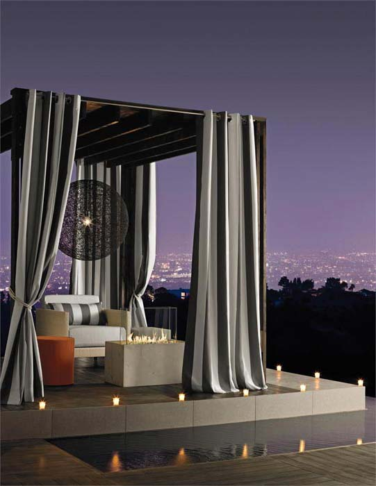 Pergola sheer curtains