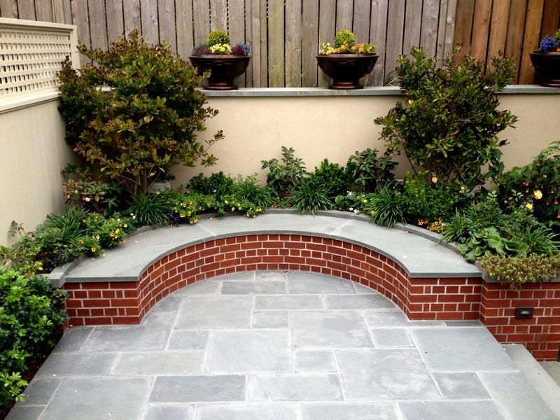 Brick bench ideas cover