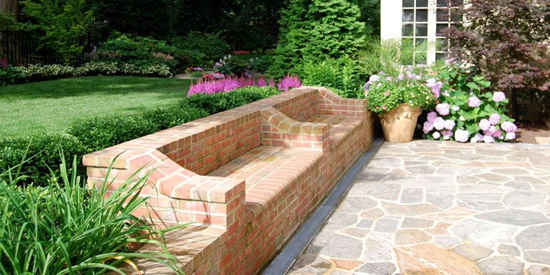 Brick Bench Ideas Adding Seting And Complementing Space Aesthetic