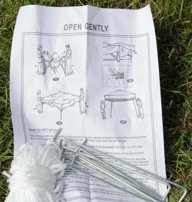 Metal frame gazebo instructions