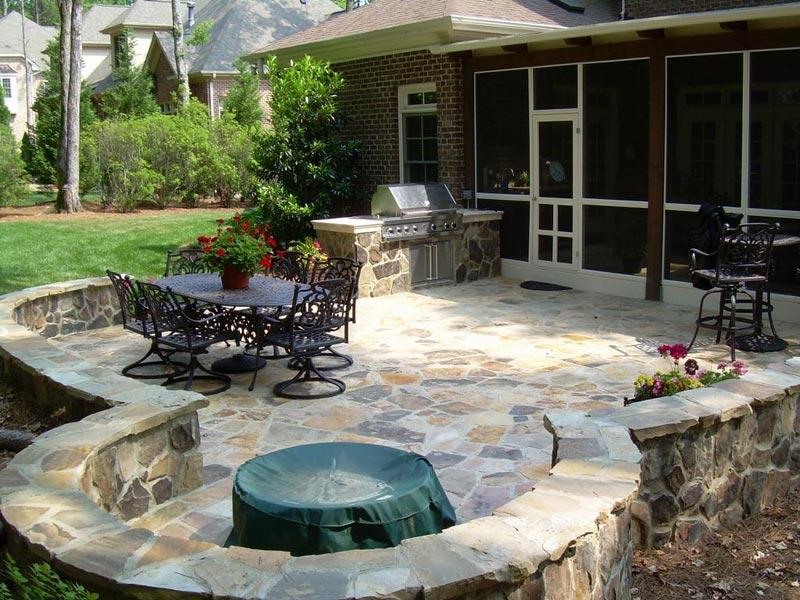 Outdoor patio area designs