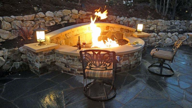 Patio fireplace alamo