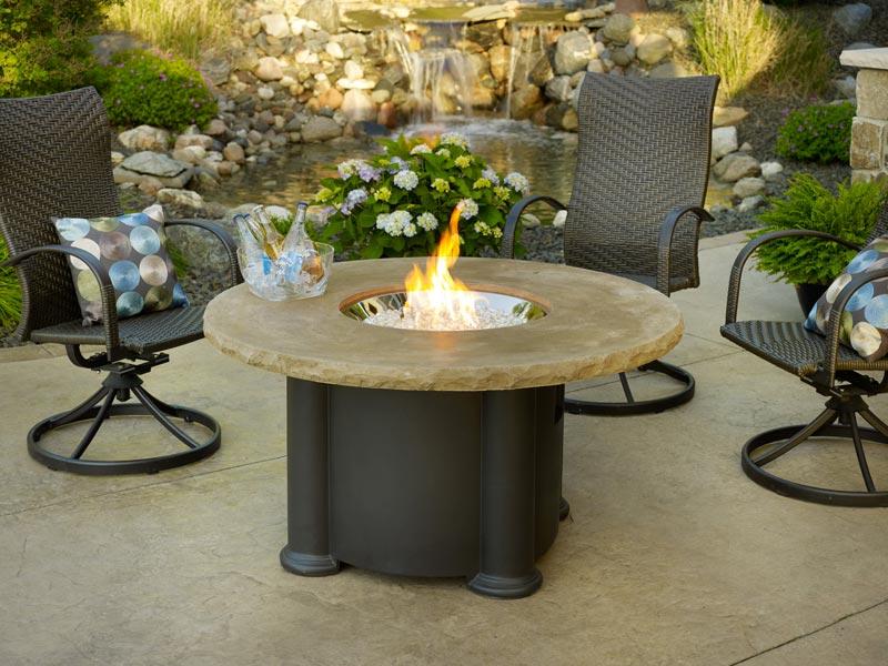 Backyard fire pit table