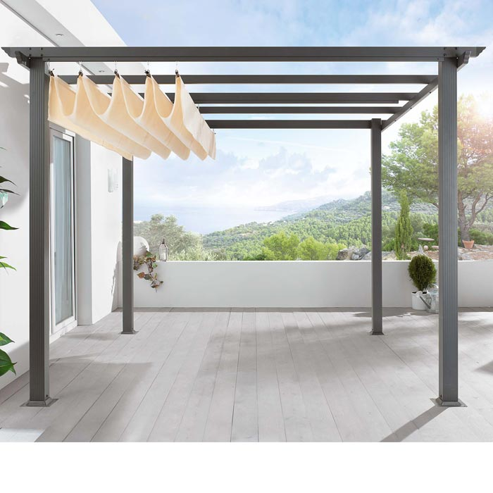 Diy pergola with retractable roof