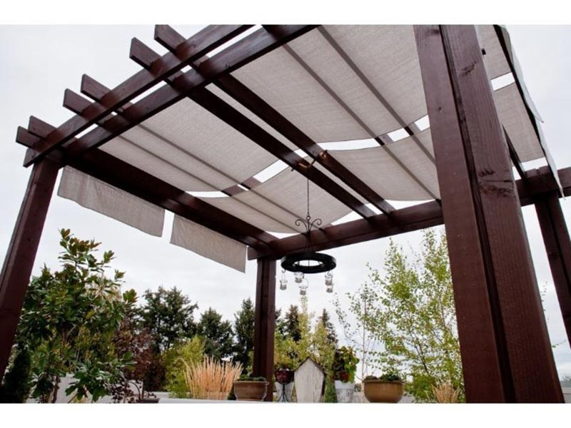 How to make a retractable canopy for pergola