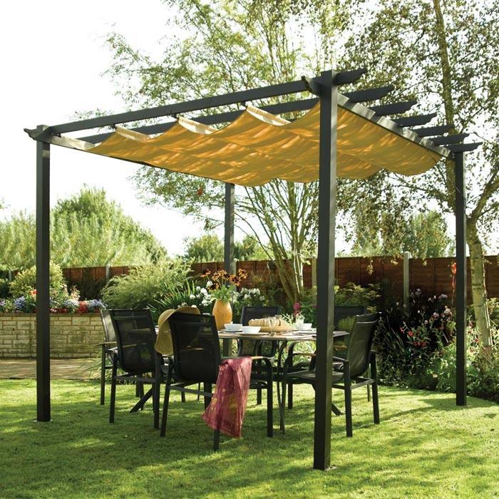 Retractable canopy for pergola