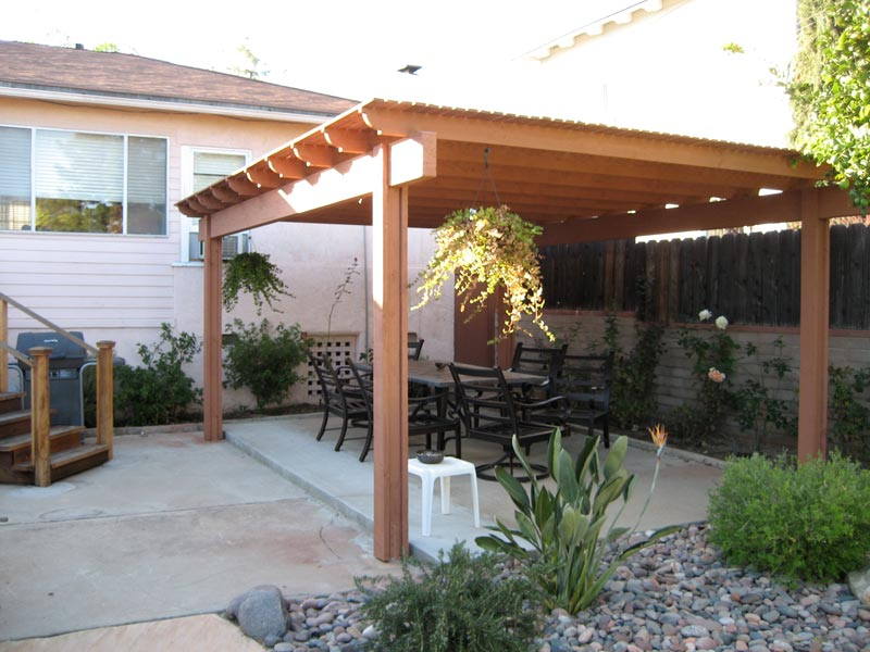 Covered patio ideas for backyard