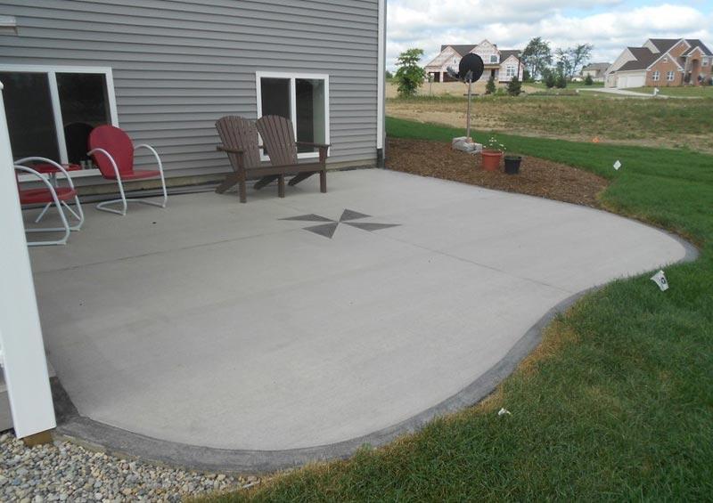 Patio designs ideas concrete