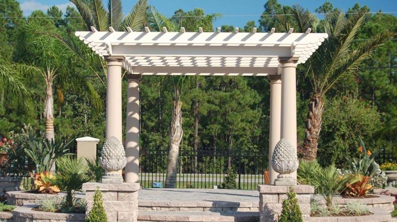 Decorative pergola columns