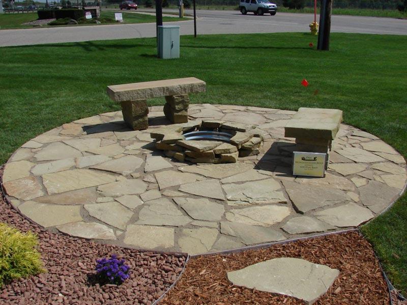 Flagstone patio designs pictures