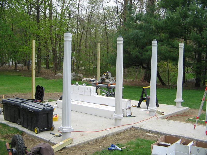 Installing pergola columns