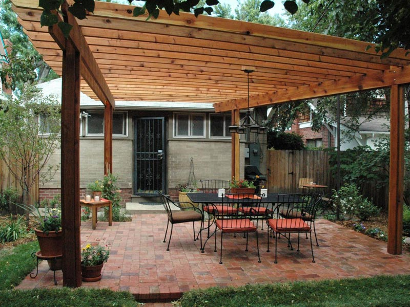 How to build a covered pergola attached to the house