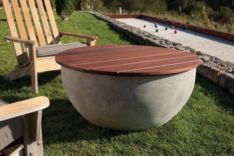 Outdoor fire bowl covers