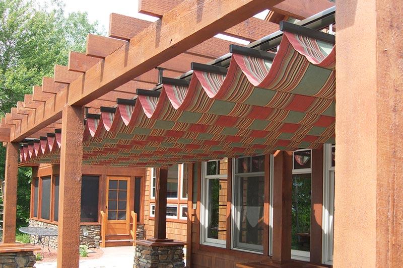 Pergola awning fabric