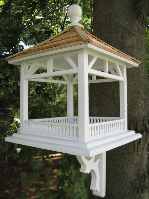 White gazebo bird feeder