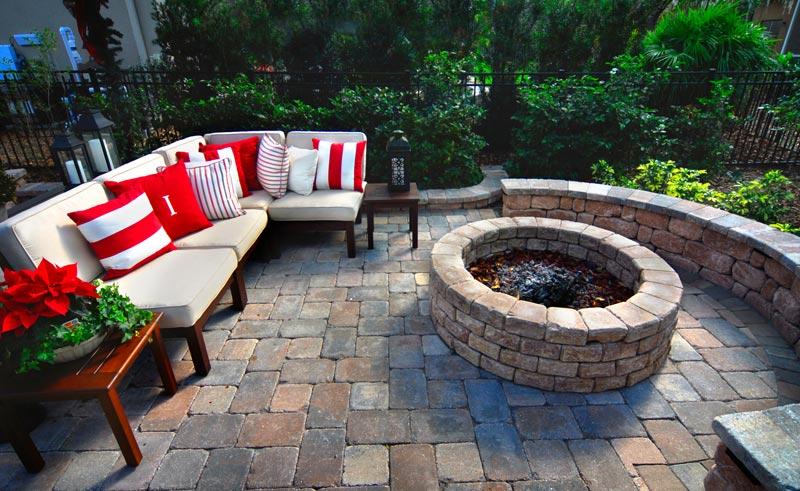 Backyard patio fire pit ideas