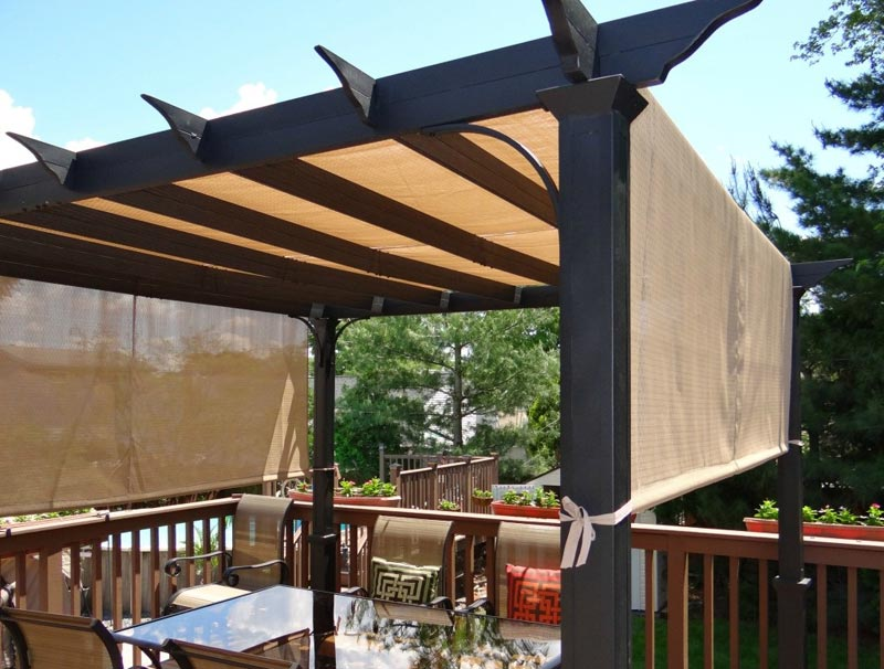 Do it yourself pergola canopy