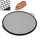 """Fire Pit Campfire Cross Hatch Cooking Grill Grate 19 22 24 30 36 37.5 40 """" inch"""
