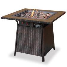 LP Gas Outdoor Firebowl Tile Fireplace Fire Insert Garden Heater Heat Patio Deck
