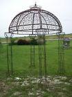 Wrought Iron Round Flower Arbor, Garden Gazebo Trellis – Pergola Arch
