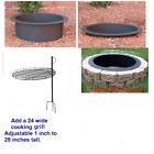 4 Pc DIY Outdoor Round Steel Fire Pit Ring Rim Kit 27″ 30″ 36″ inch Campfire Bon