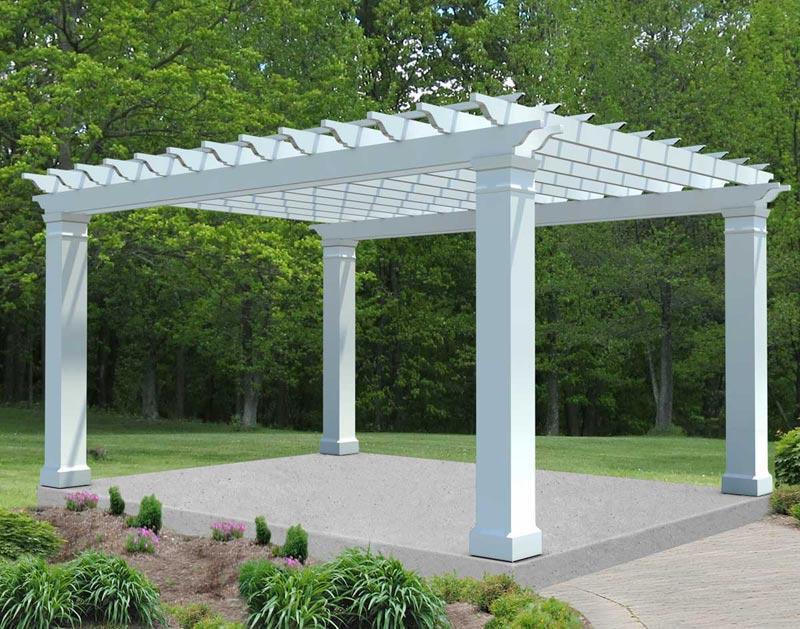 Composite pergola beams