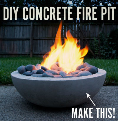 Diy fire pit feature text large