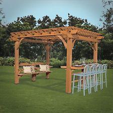 Free Standing Pergola Outdoor Modern Plans Kits Pergolas And Gazebos Oasis 10×12