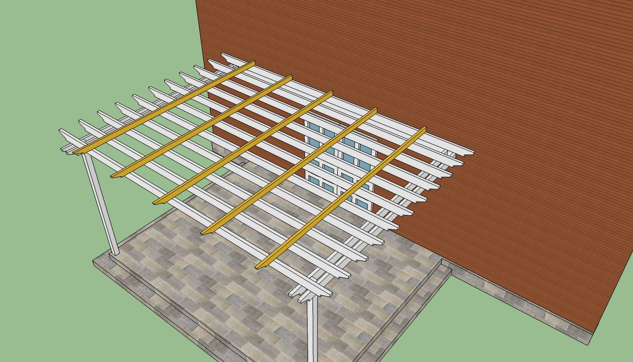 Build a pergola attached to the house howtospecialist how to build 1 3