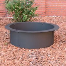 Fire Pit Ring Rim Heavy Duty 30 Inches In Ground Top With Stones Bricks Easy