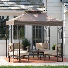 Gazebo Canopy Tent Cover Shelter Shade 8×8 Pergola Outdoor Yard Patio Furniture