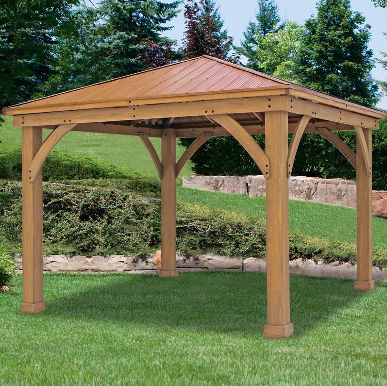 Fabulous costco cedar gazebo   Garden Landscape on Costco Outdoor Pavilion id=63766