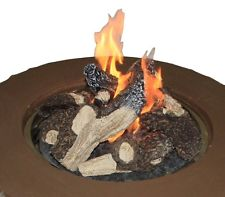 The Outdoor GreatRoom Company Crystal Fire Concrete Fire Pit Table