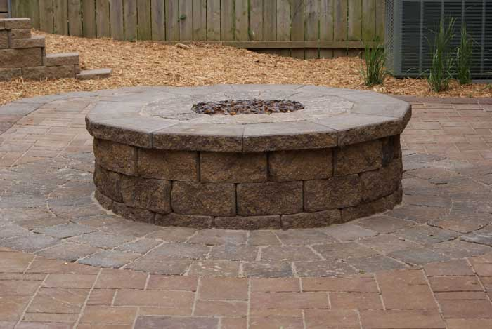 How big to make a fire pit patio