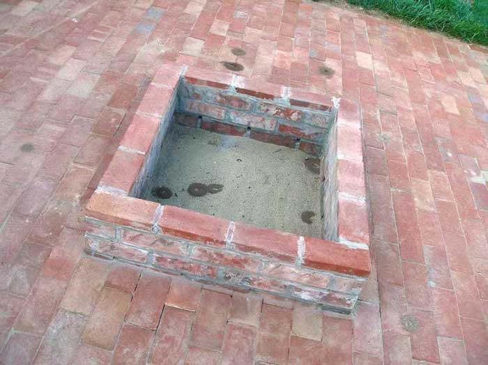How to build a fire pit on a brick patio