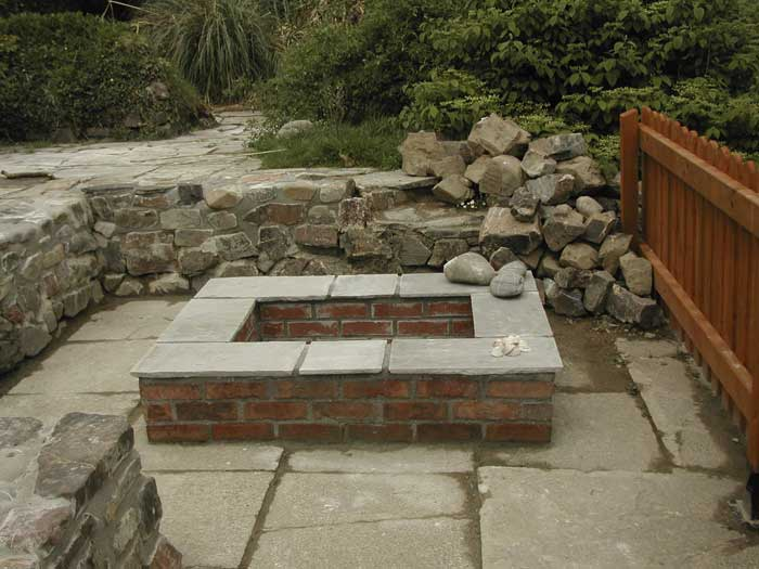 How to build a fire pit on a cement patio