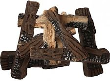 INDOOR FIREPLACE LOGS ceramic artificial fire pit fake wood propane gas electric