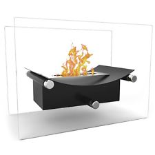 Portable Tabletop Firepit Ventless Fireplace Bio Ethanol Outdoor Indoor Home New