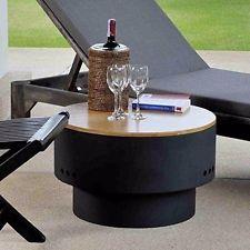 23″x23″x14″ FIREPIT/SIDE TABLE for RAISED Concrete/Block/Gravel/Dirt Surfaces