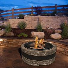 Wood Burning Fire Pit Includes Base Screen Hook Bowl and Grate Charcoal Gray