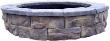 30 in. Outdoor Wood Burn Sturdy Concrete Fossill Limestone Finish Fire Pit Kit
