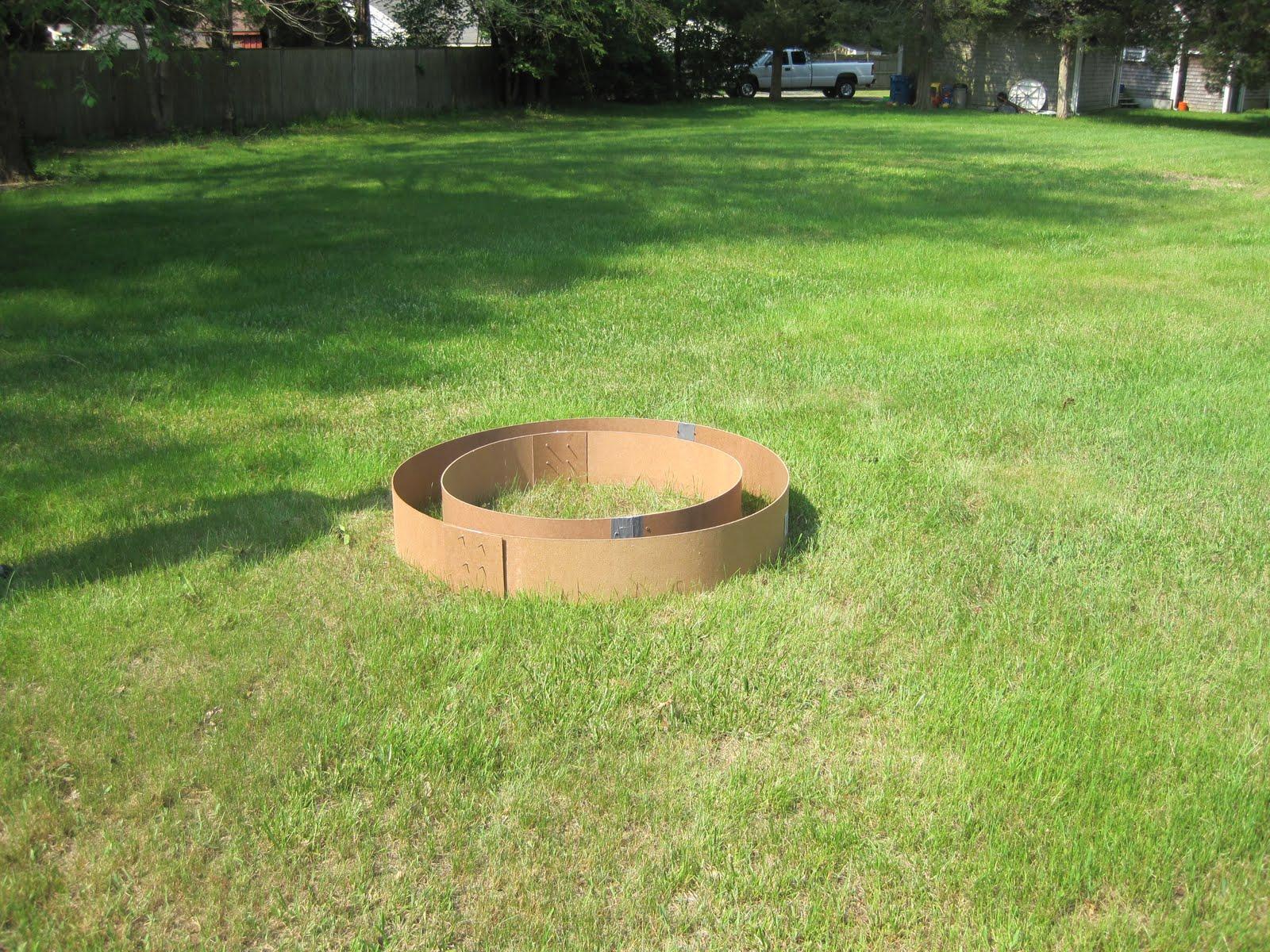 Lovely Round Concrete Forms Fire Pit   Garden Landscape