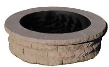 47 in. Outdoor Wood Burning Concrete Fire Pit Ring Kit Brown Durable High End