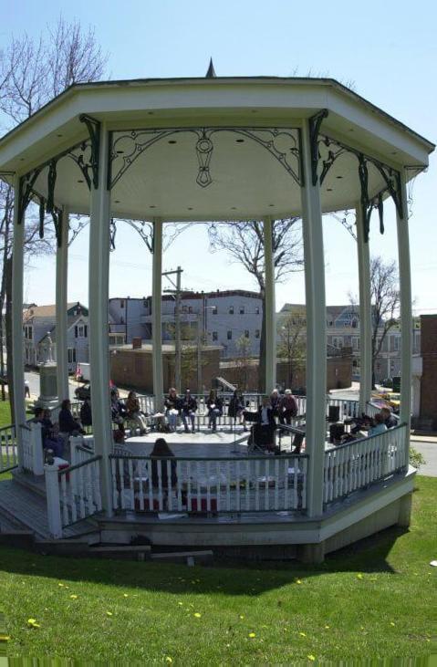 Concert venue octagon screened gazebo